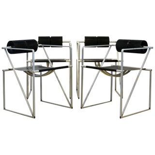 Four 'Seconda 602' Armchairs Designed by Architect Mario Botta for Alias, Italy For Sale