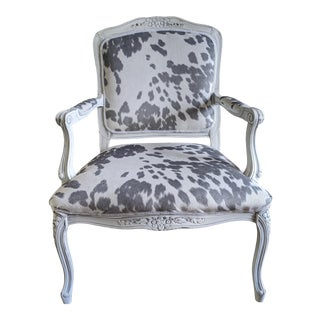 Vintage French Style Armchair For Sale