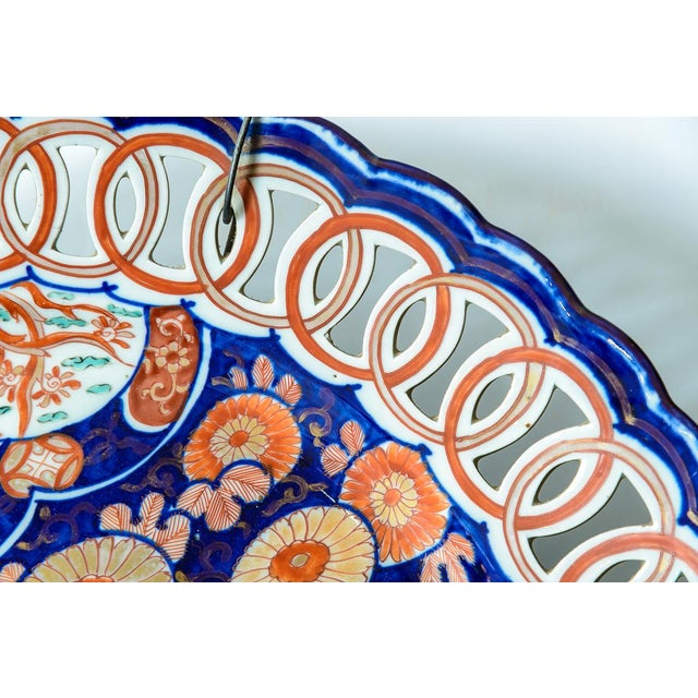 Reticulated Antique Imari Charger For Sale - Image 4 of 8
