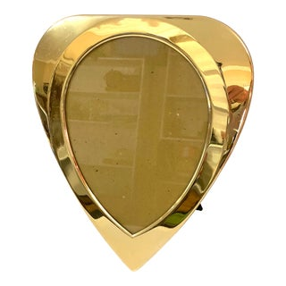 Faux Brass Heart Shaped Picture Frame For Sale