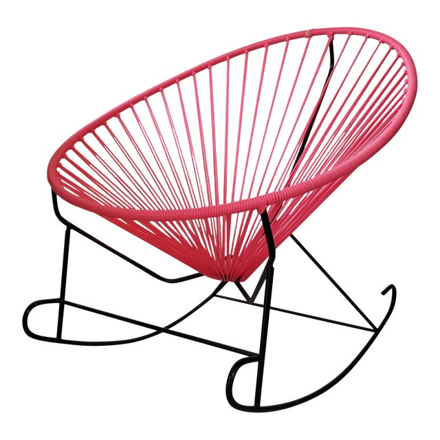 Pink Woven Acapulco Rocking Chair - Image 1 of 3