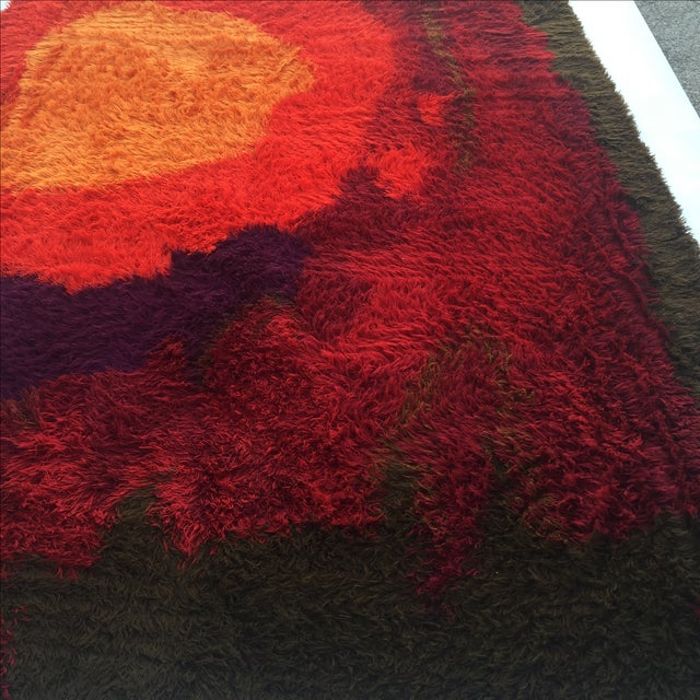 "Mid-Century Abstract RYA Shag Rug - 7'10"" X 10'10"" For Sale In Austin - Image 6 of 8"
