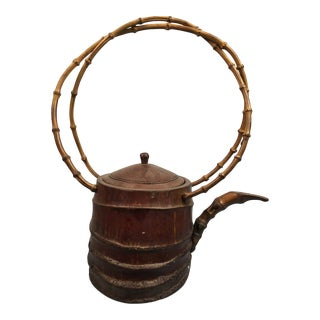 1950s Bamboo Tea Pot For Sale