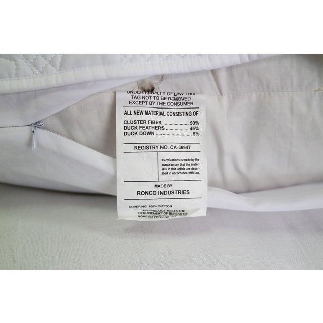 Custom Designer White Linen Slipcovered Sofa - Image 8 of 11