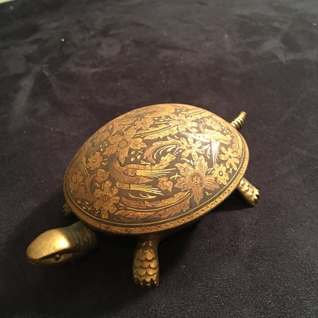 Figurative Antique Boj Eibar Bell Ring Service Turtle For Sale - Image 3 of 6