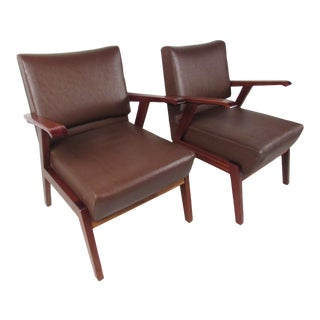 Pair of Unique Mid-Century Modern Italian Floating Armchairs For Sale