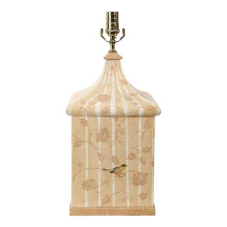 Vintage Beige Brighton Pavilion Tent Table Lamp For Sale