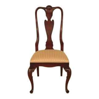 Century Queen Anne Mahogany Side Occasional Chair For Sale