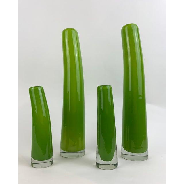 Mid-Century Modern Henry Dean Glass Bud Vases - Set of 4 For Sale - Image 3 of 13