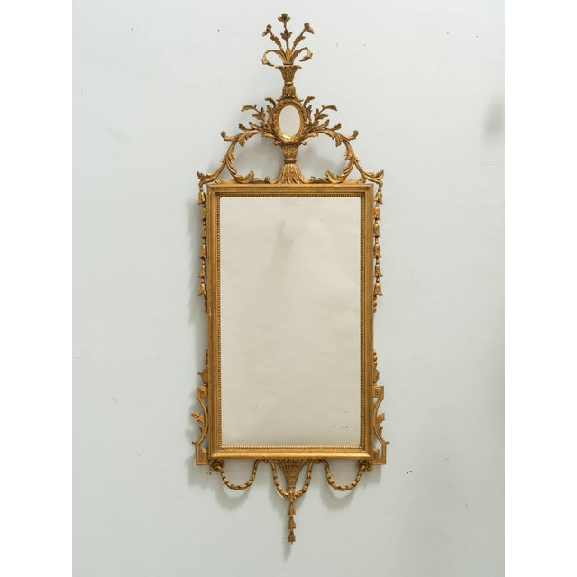 Wood Italian Giltwood Mirror For Sale - Image 7 of 8