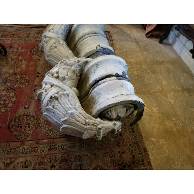 Crusty Antique Zinc Architectural Fragments For Sale - Image 11 of 13