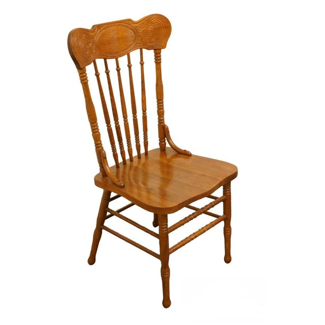 Lexington Furniture Victoriana Series Solid Oak Desk / Accent Chair 610-537 For Sale - Image 9 of 9