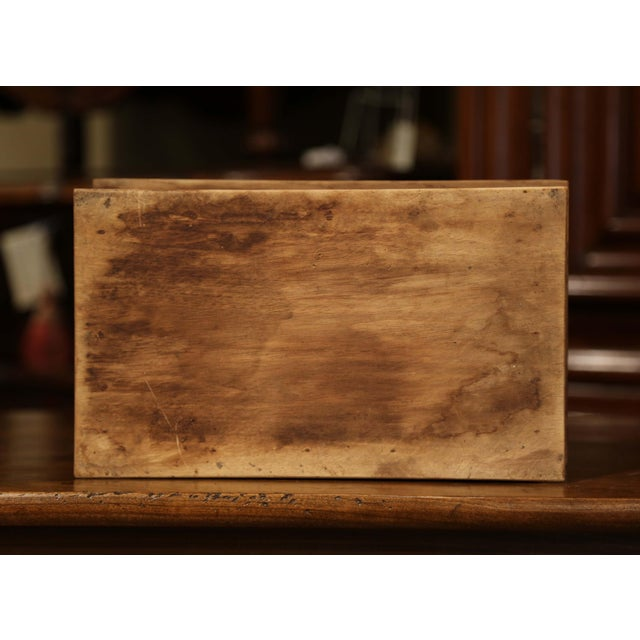 Early 20th Century French Carved Chestnut Box From Brittany Signed E. Bayon For Sale - Image 9 of 10