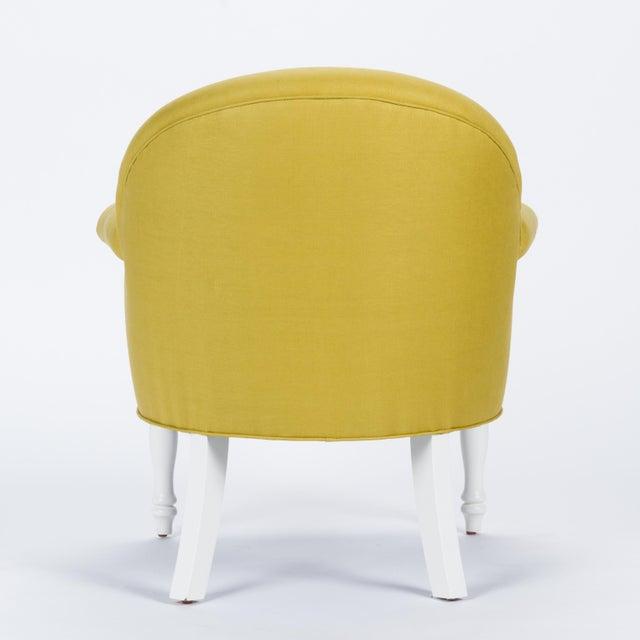 Casa Cosima Casa Cosima Napoleon III Chair in Citron Linen, a Pair For Sale - Image 4 of 9