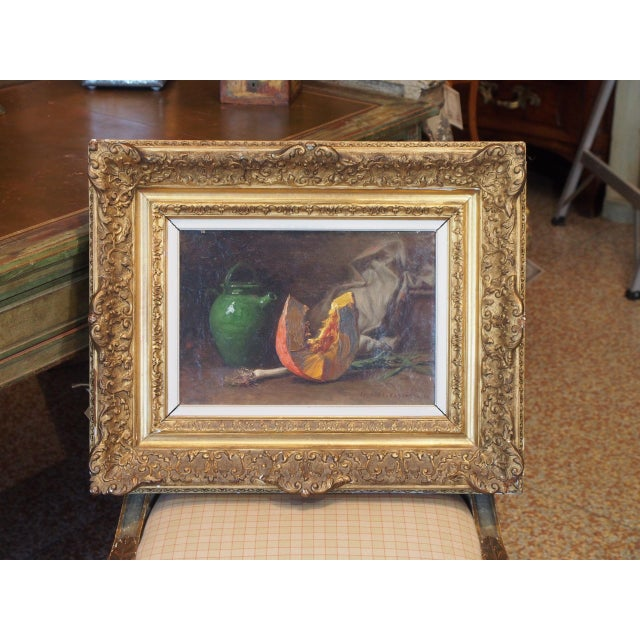 19th Century French Still Life Painting by Edouard Cabane For Sale - Image 9 of 9