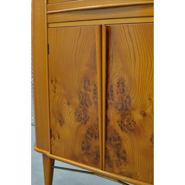 Mid-Century Modern Mid-Century Scandinavian Corner Bar Cabinet For Sale - Image 3 of 7