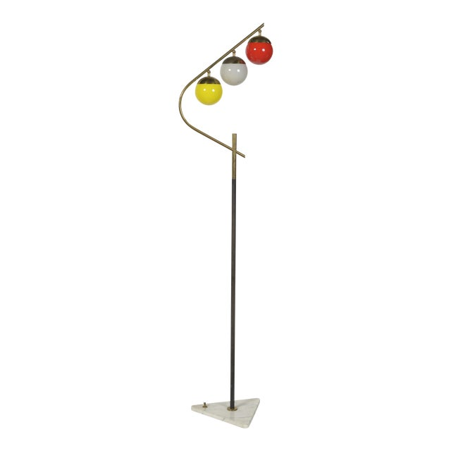 Red 1960s Italian Floor Lamp For Sale - Image 8 of 8
