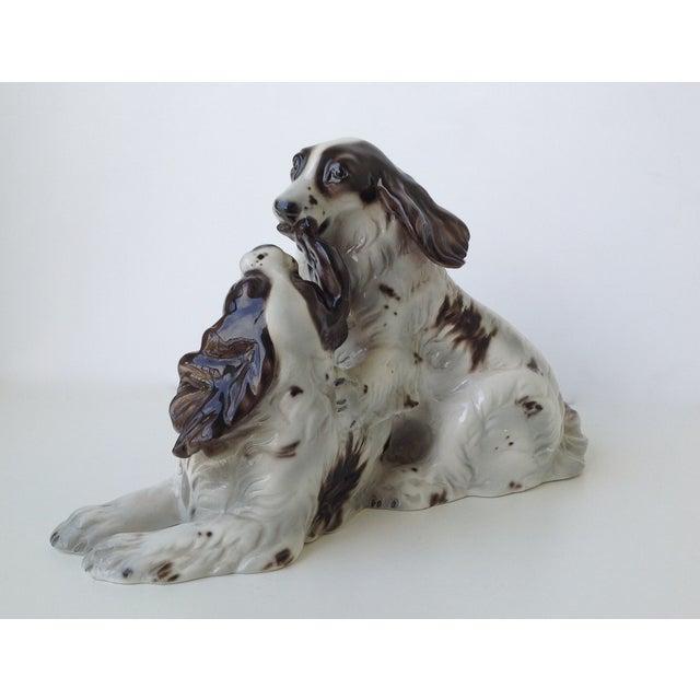 Vintage Italian Porcelain Springer Spaniels For Sale - Image 4 of 11
