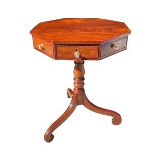 19th Century Century English Regency Mahogany Octagonal Table For Sale