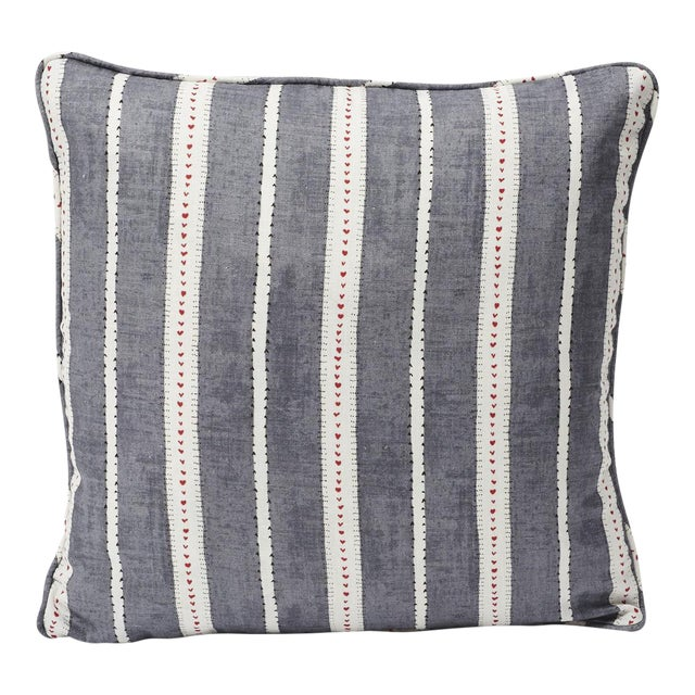 Schumacher Double-Sided Pillow in Amour Linen Print For Sale