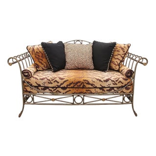 Neoclassical Style Steel Framed Daybed For Sale