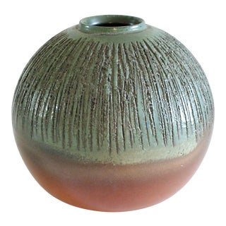 Rustic Ball Vase For Sale