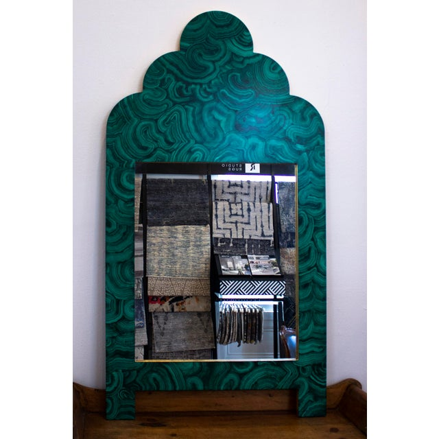 Green Malachite Wall Mirror For Sale - Image 4 of 13