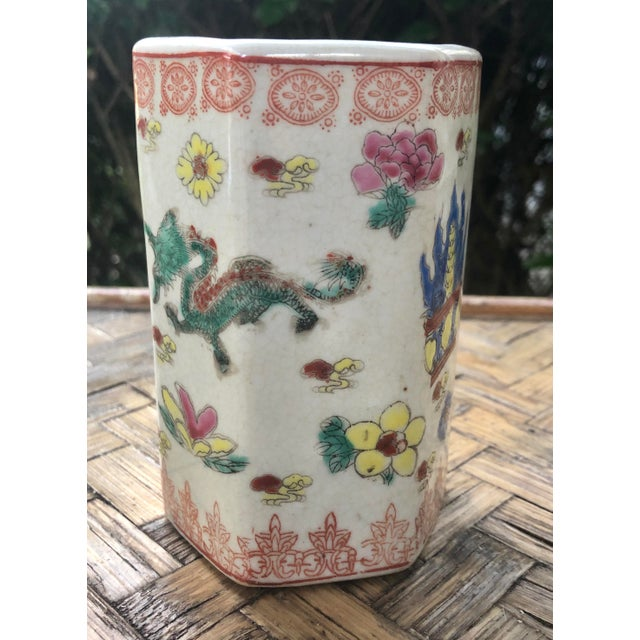 Early 20th Century Vintage Traditional Chinese Motif Vase For Sale In Charleston - Image 6 of 13