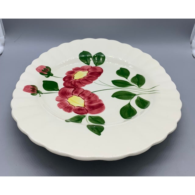 Blue Blue Ridge Southern Pottery Mirror Image Platter For Sale - Image 8 of 10