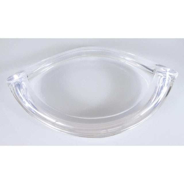 Mid-Century Modern 1970s Lucite Bowl For Sale - Image 3 of 6