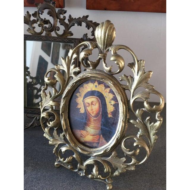 Vintage Roccoco Victorian Brass Frames - Set of 4 For Sale - Image 4 of 8