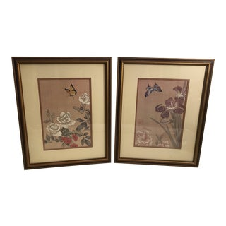 Vintage Asian Botanical Prints - A Pair