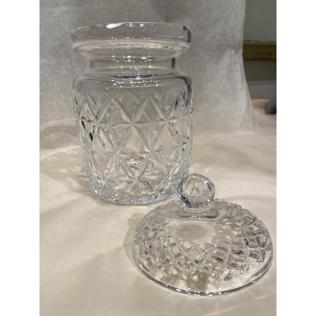 Traditional 1990s Tiffany & Co. Glass Jar With Lid For Sale - Image 3 of 6