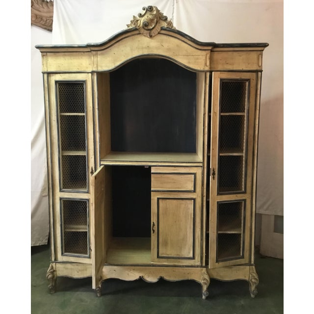 French Carved Center Crown Armoire For Sale - Image 9 of 13