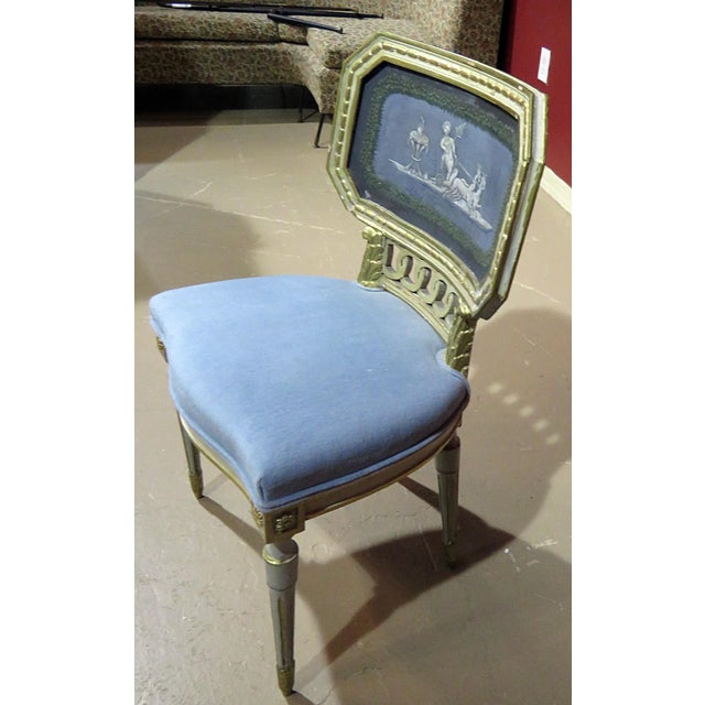 Early 20th Century Antique Louis XV Style Distressed Painted Side Chair For Sale - Image 5 of 8