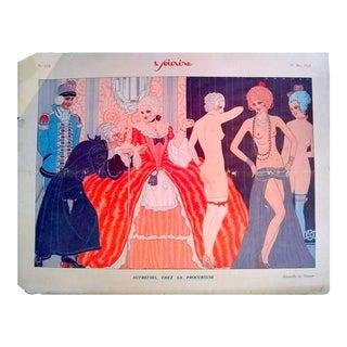 """Ransor 1928 """"Autrefois Chez La Procureuse"""" Le Sourire Print"""
