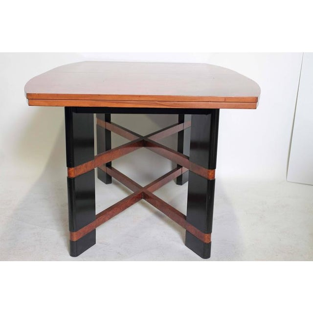1930s Art Deco Hastings Dining Table / Chairs Double X-Base Teague / Deskey For Sale - Image 5 of 11
