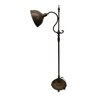 Early Twentieth Century Industrial Brass Floor Lamp For Sale