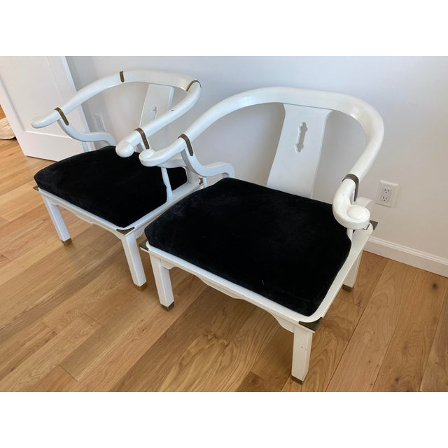 Traditional 1960s Vintage James Mont Style Ming Chairs - a Pair For Sale - Image 3 of 11