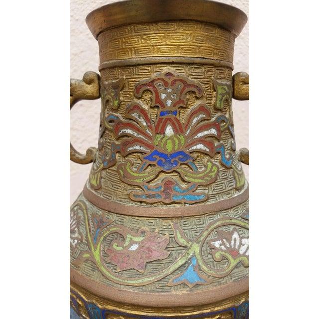 Japanese Vintage Inlaid Vase - Image 3 of 6