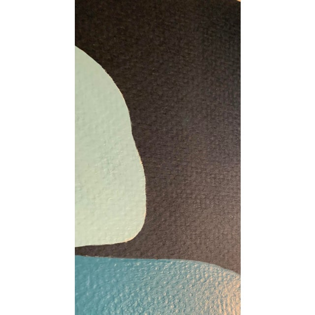 2010s Stephanie Henderson Cairn in Moody Blues Original Painting For Sale - Image 5 of 9