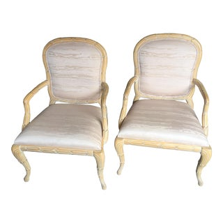 Vintage Serge Roche Style Side Chairs- A Pair For Sale