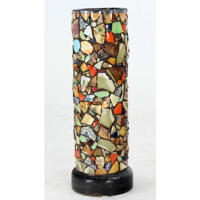 Mosaic Heavy Pottery Cane or Umbrella Stand - Image 2 of 10