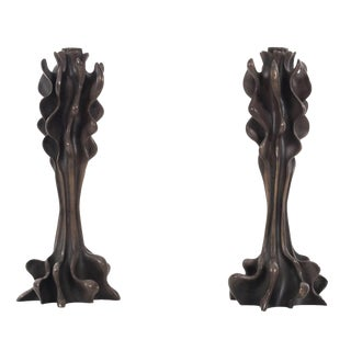 Bronze Candle Holders