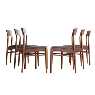 Set of Six Dining Chairs in Teak by Kai Kristiansen for k.s. Mobler Denmark, 1960s For Sale