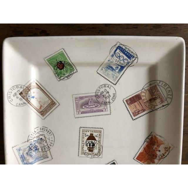 Mid Century Italian Postage Stamp Plate - Image 3 of 5