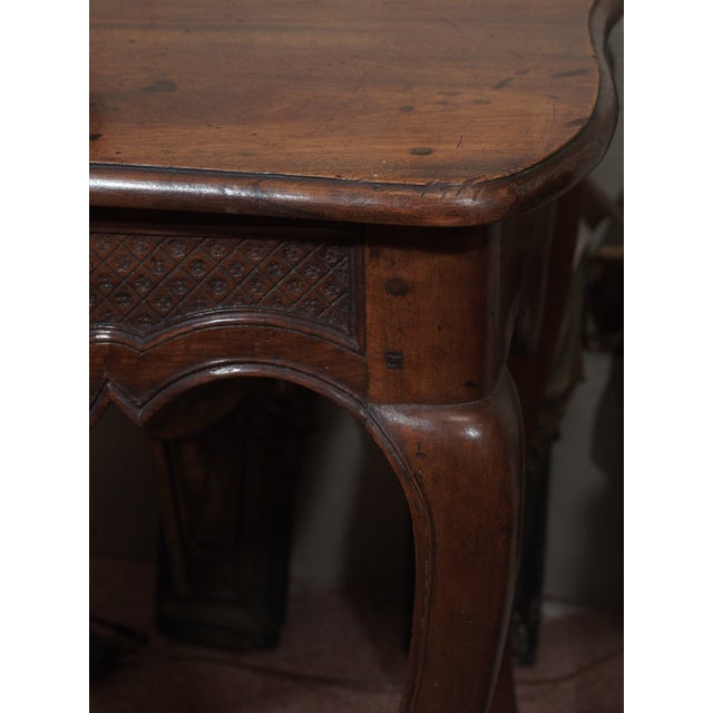 Walnut 19th Century French Carved Walnut Console For Sale - Image 7 of 8