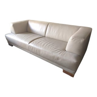 Modern Leather & Wood Custom Sofa