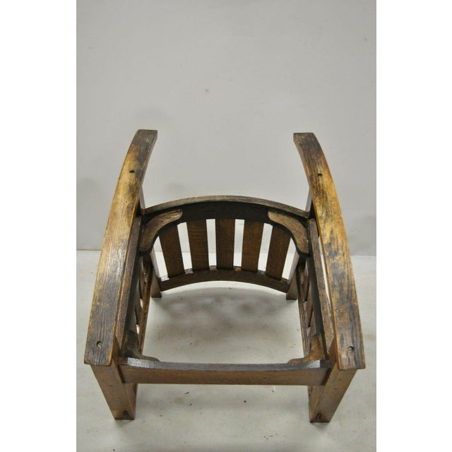Early 20th Century Harden Mission Oak Arts & Crafts Stickley Style Rocking Chair Rocker Armchair For Sale - Image 11 of 13