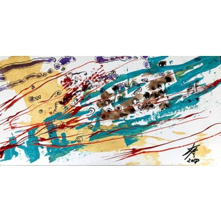 Contemporary Abstract Acrylic Painting by Kyle M. Evans For Sale